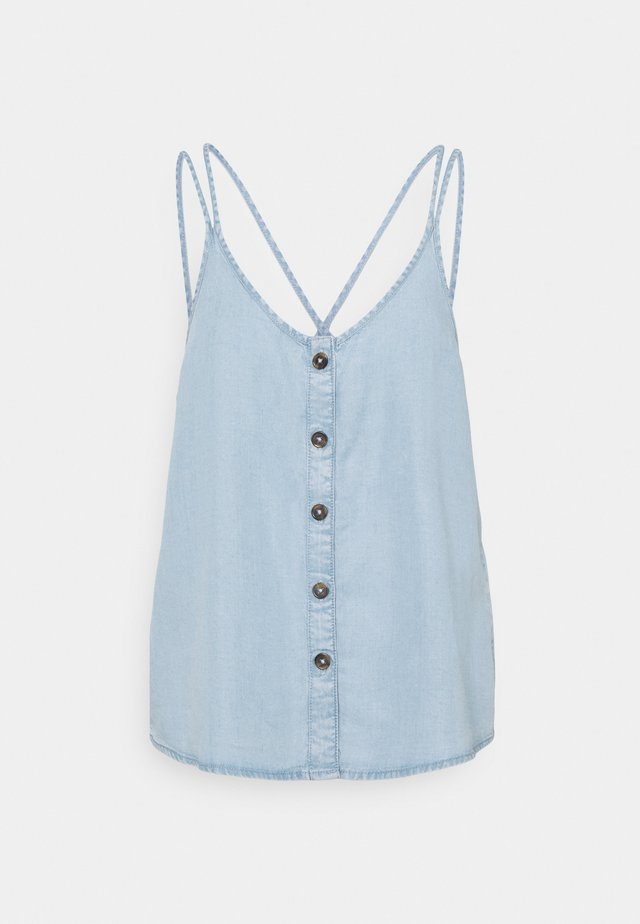 NMMAISIE ENDI STRAP  - Top - light blue denim
