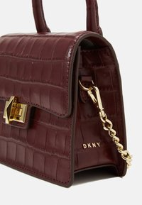 DKNY - JOJO MINI SATCHEL - Handbag - aged wine - 3