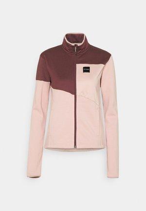 LODGE™ HYBRID FULL ZIP - Fleecová bunda - mineral pink/malbec