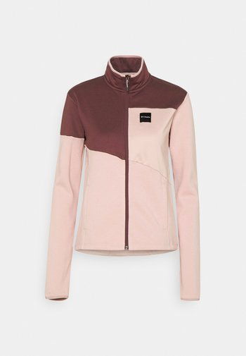 LODGE™ HYBRID FULL ZIP - Giacca in pile - mineral pink/malbec