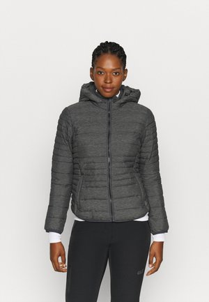 WOMAN JACKET SNAPS HOOD - Winterjacke - antracite melange