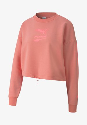 EVIDE CREW - Sweatshirt - salmon rose
