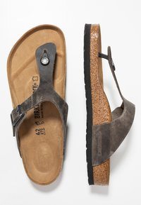 Birkenstock - GIZEH - Slippers - iron - 1