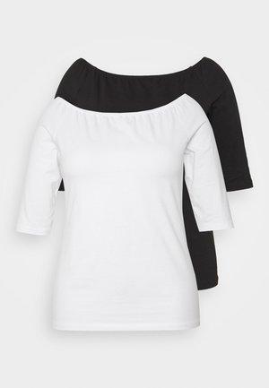 2 PACK - Jednoduché triko - white/black
