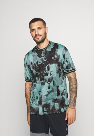 NEW ERAOVERSIZED TECH TEE - T-shirt imprimé - teal