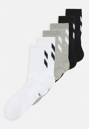 CHEVRON 6 PACK UNISEX  - Sports socks - white/black/grey melange