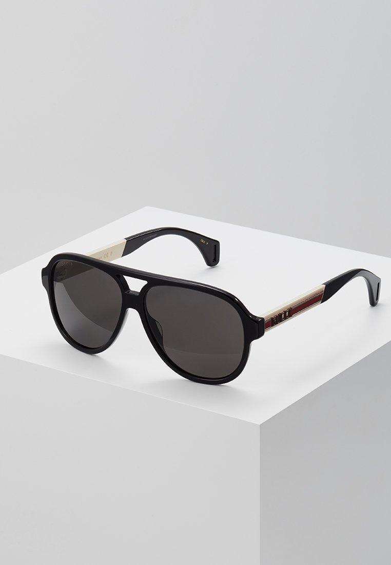 Gucci - Okulary przeciwsłoneczne - black/white/grey