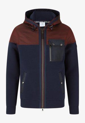 HYBRID WARTEN - Outdoor jacket - navy-blau/rost-rot