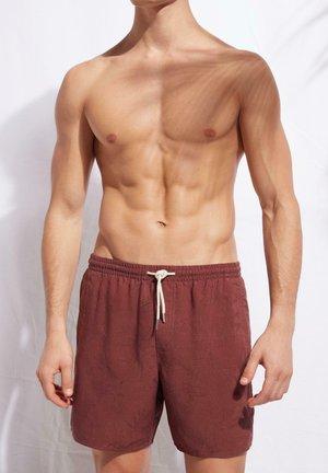 Swimming shorts - cinnamon red