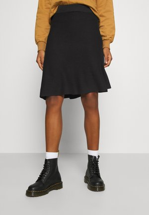 VIPLISANA SKIRT - Jupe trapèze - black