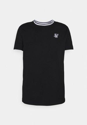 ROLL SLEEVE TEE - Basic T-shirt - black/white