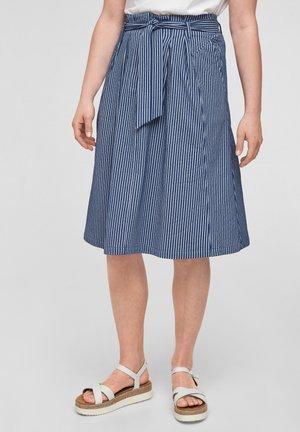 A-line skirt - dark blue stripes