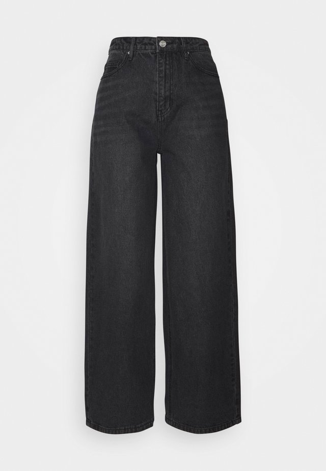 HIGH RISE  - Jeans bootcut - black