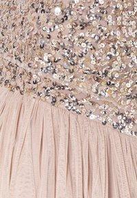 Maya Deluxe Maternity - DELICATE GLITTER OVERLAY DRESS - Společenské šaty - taupe blush - 5