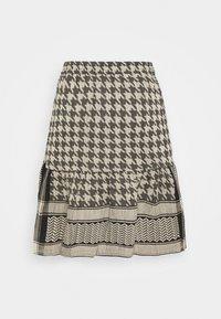 CECILIE copenhagen - HERDIS SKIRT - Mini skirt - black/cream - 1