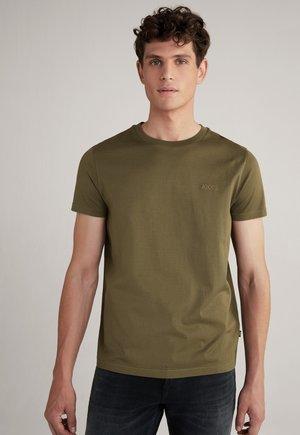 PARIS - Basic T-shirt - oliv