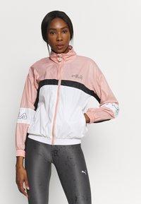 Fila - JADA BLOCKED JACKET - Training jacket - coral cloud/bright white/black - 3