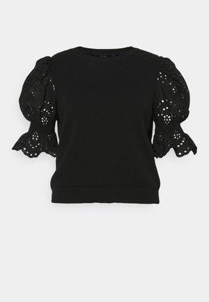 VMTULIP O-NECK CURVE - Camiseta estampada - black