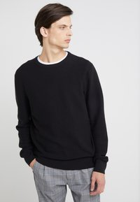 J.CREW - GARTER CREW - Stickad tröja - black - 0