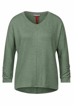 MIT RAFFUNG - Long sleeved top - grün