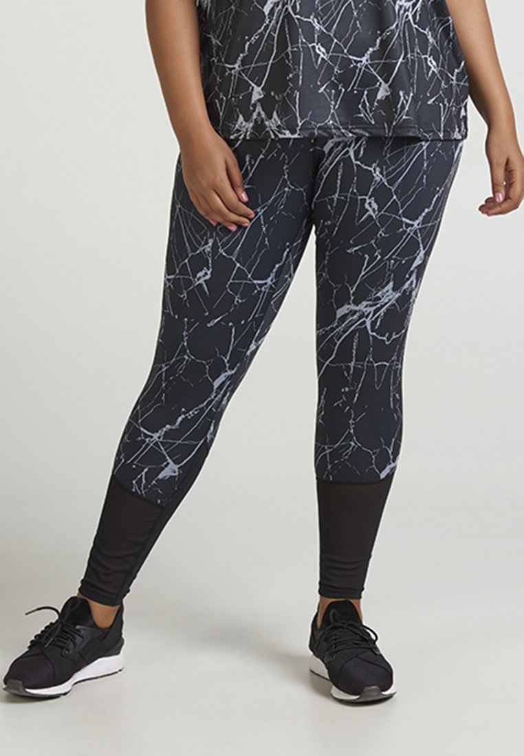 Active by Zizzi - AMARBLE LONG PANT - Collants - black