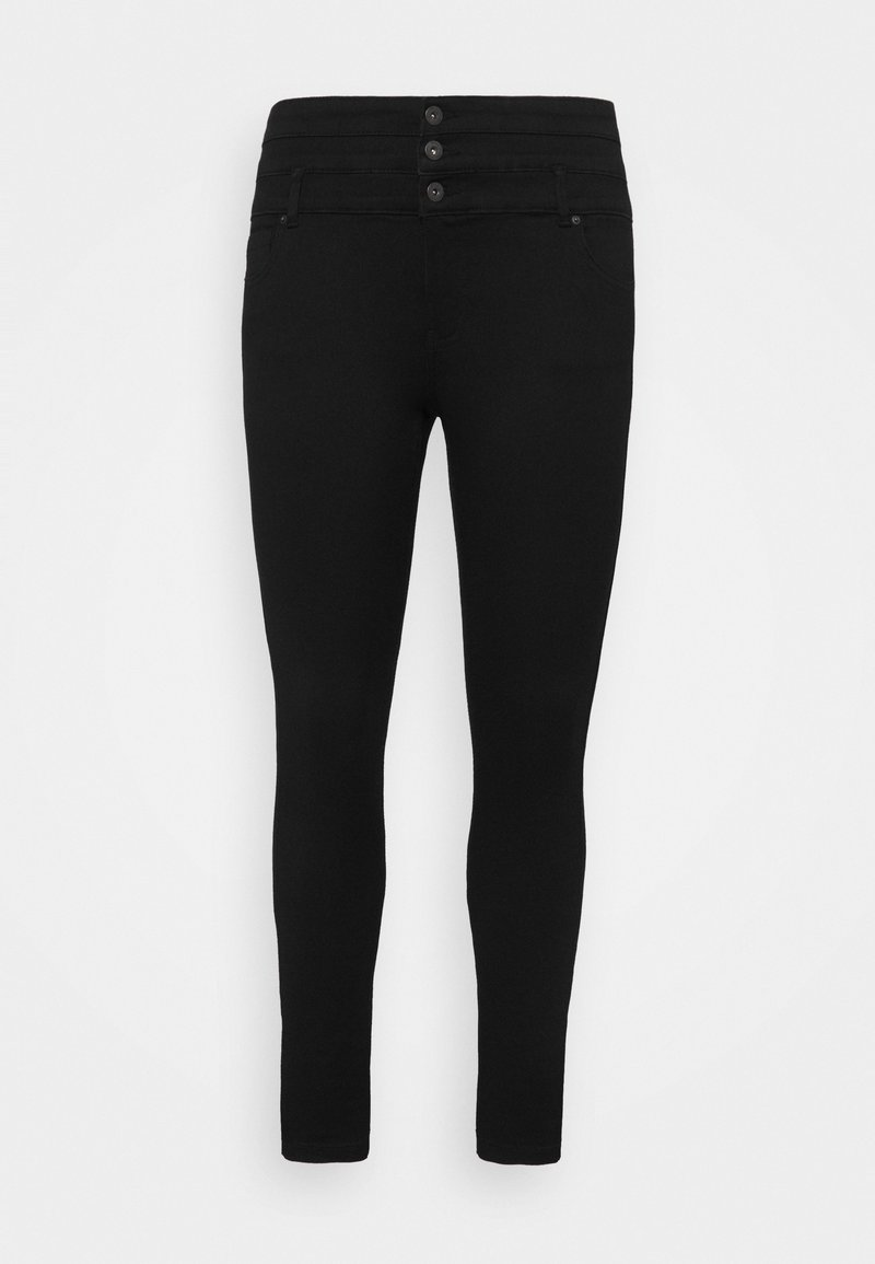 ONLY Carmakoma - CARAUGUSTA LIFE CORSAGE  - Jeans Skinny Fit - black
