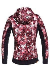 Roxy - FROST PRINTED - Fleece jacket - oxblood red leopold - 5