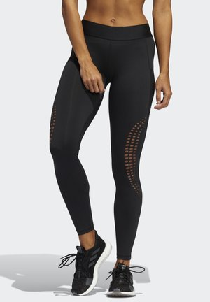 ALPHASKIN LONG POWER LASER PERFORMANCE LEGGINGS - Tights - black