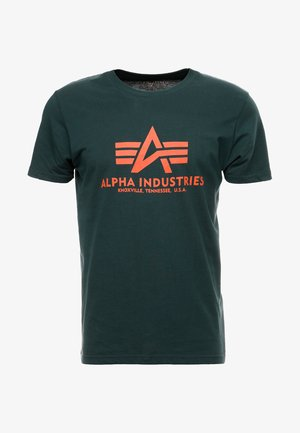 BASIC - T-shirt imprimé - petrol