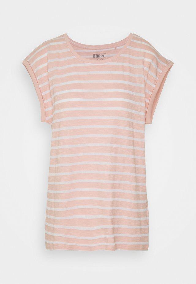 TEE STRIPE - Camiseta estampada - nude