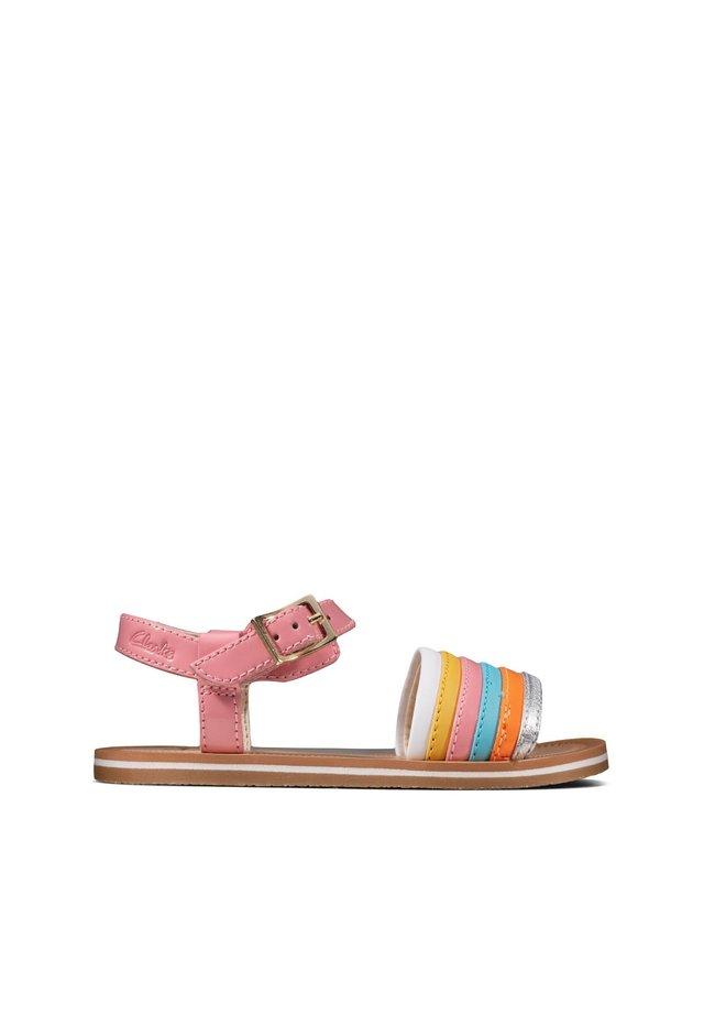 Sandals - buntes leder