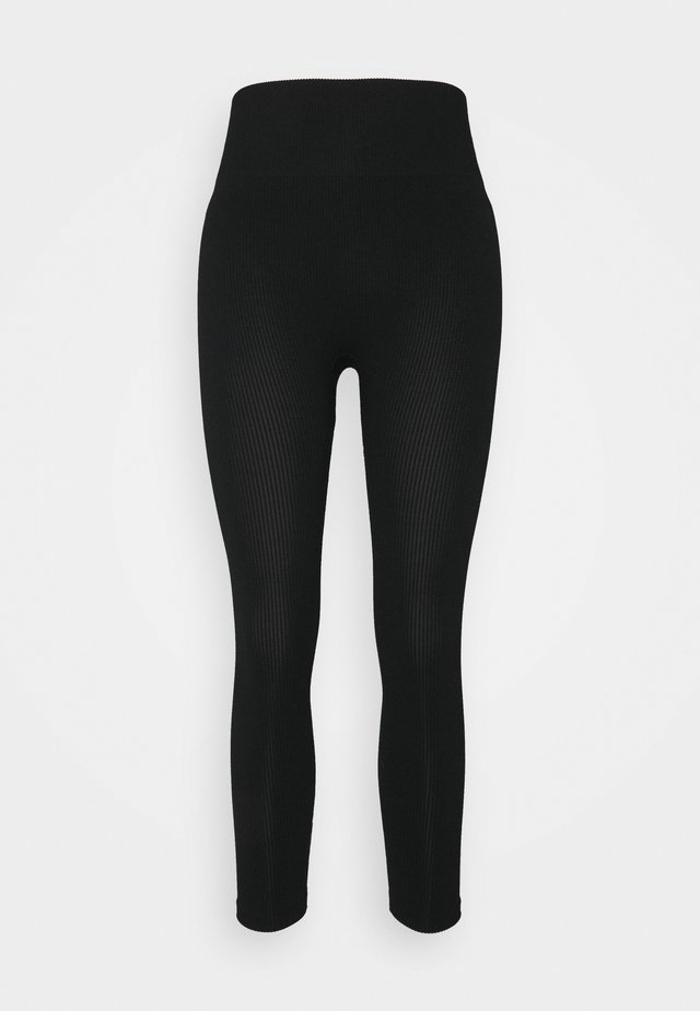 SEAMLESS LEGGINGS  - Leggings - black