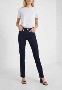 7 for all mankind - BAIR CLEAN RINSE - Straight leg jeans - dark-blue denim - 0