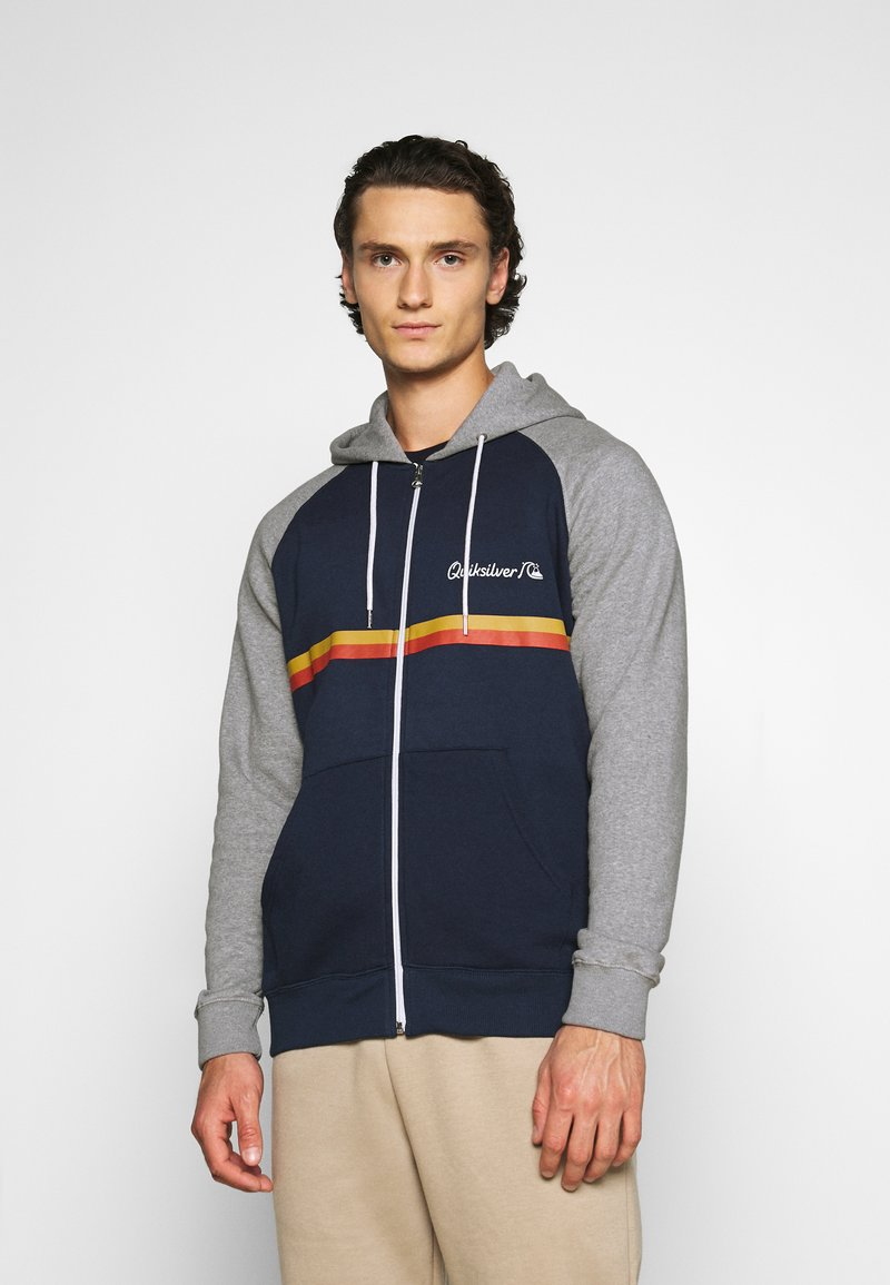 Quiksilver - EVERYDAY SCREEN ZIP - Zip-up hoodie - navy blazer
