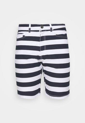 STRIPE - Shorts - main white/navy