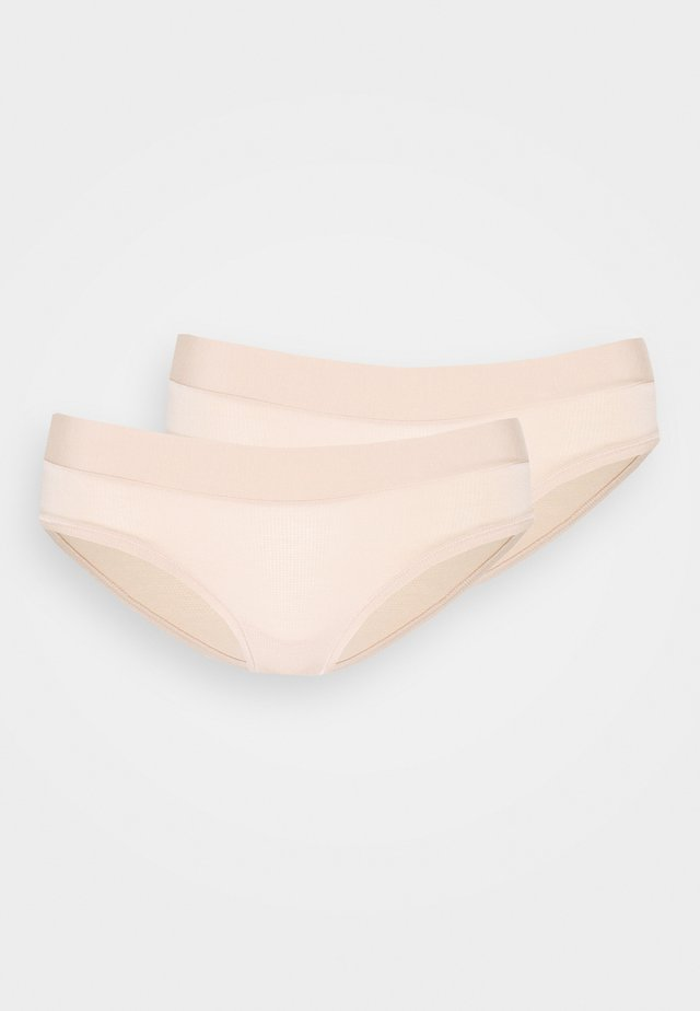 GO ALLROUND HIPSTER 2 PACK - Panty - peanut butter