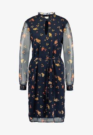 Day dress - dark navy/orange