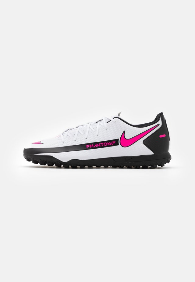 PHANTOM GT CLUB TF - Fotballsko for kunstgress - white/pink blast/black