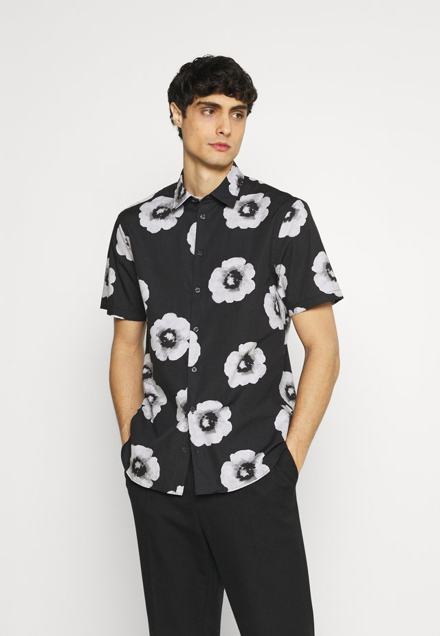 ANTON FLOWER SHIRT - Overhemd - caviar