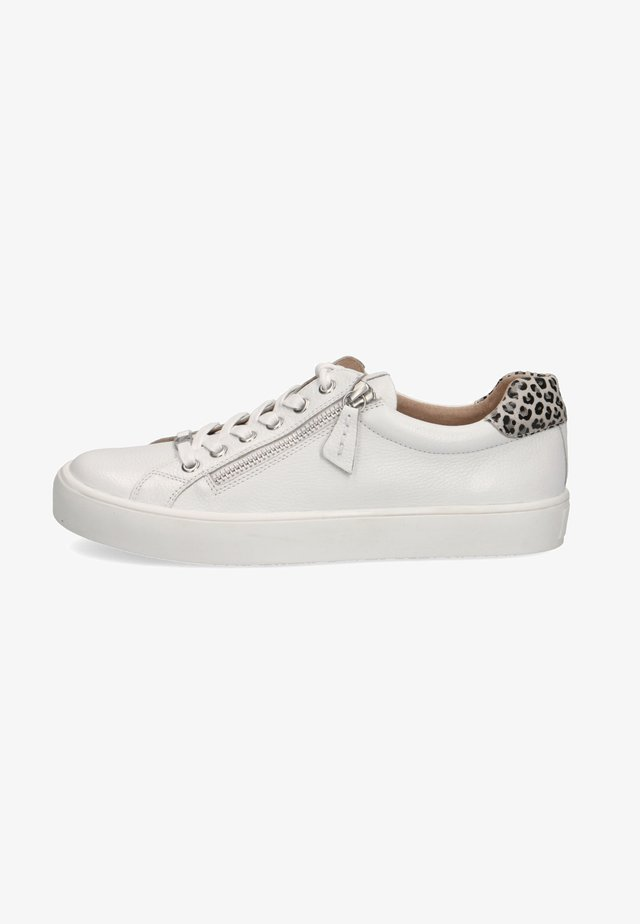 Sneakers laag - white nappa comb