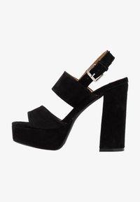 Even&Odd - LEATHER - Højhælede sandaletter / Højhælede sandaler - black - 1