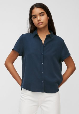 Button-down blouse - dress blue
