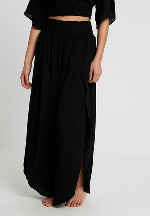 BEACH BASICS SHIRRED WAIST WRAP PANT - Complementos de playa - black