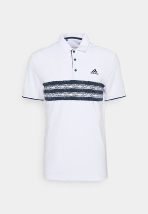 CORE LEFT CHEST - Polo shirt - white/crew navy