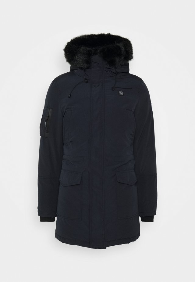ANCOLIE TECHNICAL PARKA - Winter coat - navy/black
