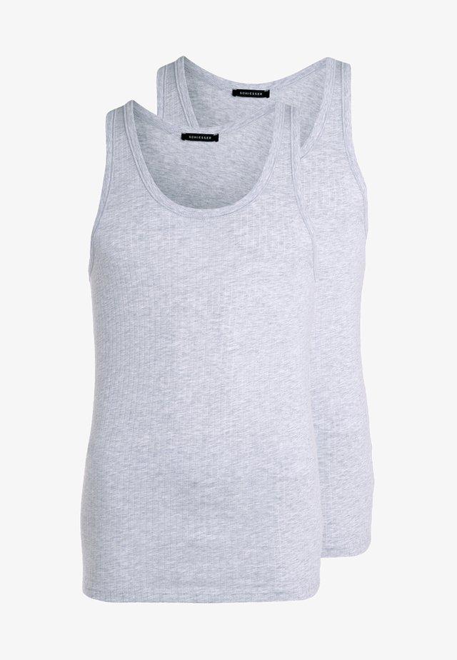 2 PACK - Hemd - grau meliert