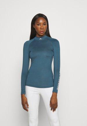 ÅSA SOFT COMPRESSION - Long sleeved top - orion blue
