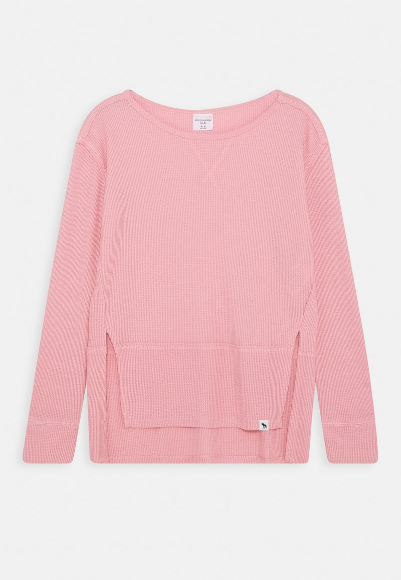 Abercrombie & Fitch - OVERSIZED WAFFLE TEE - Long sleeved top - blush pink