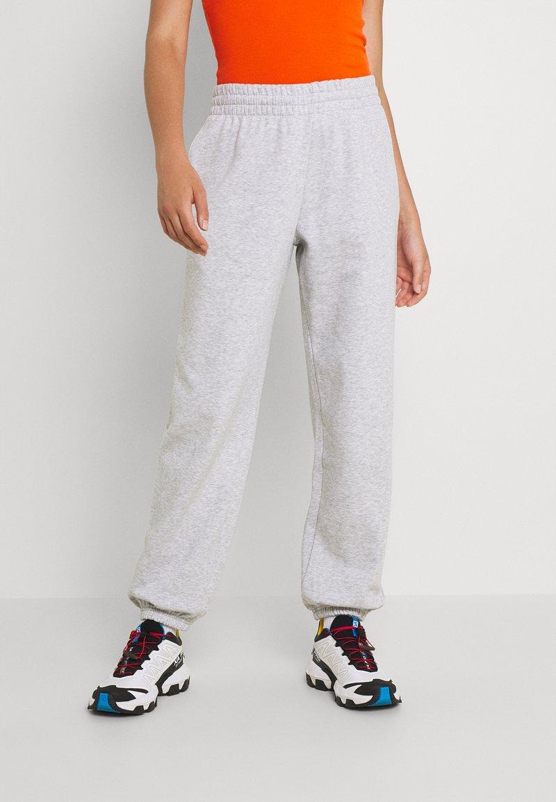 Weekday - ALISA PANTS - Pantalon de survêtement - grey melange