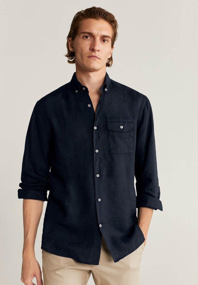 Mango - CALCUTA - Shirt - azul marino oscuro